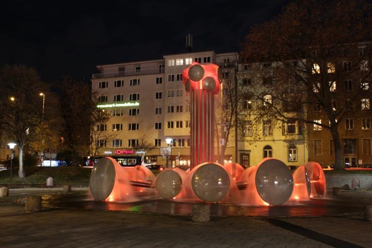 Brunnen auf dem Ebertplatz 2020